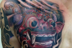 barong-mask-tattoo-black-grey-realistic-good-ubud-studio-best-kings-bali-tino-Color