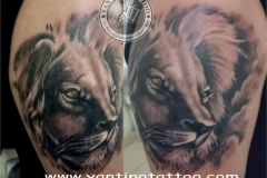 lion-tattoo-tribal-dot-yantino-bali-tattoo-ubud-kings-kuta-balinesia-ubud-realistic