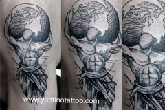 man-tattoo-word-dunia-indonesia-toopbali-studio-good-tattoo-indonesia