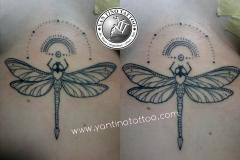 dot-work-mandala-smple-dragonfly-capung-bali-kuta-sanur