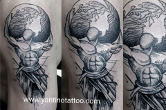 man-tattoo-word-dunia-indonesia-toopbali-studio-good-tattoo-indonesia